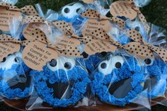 Cookie Monster Birthday Favors