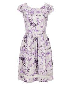 Violet Print Fit & F