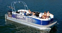 Spacious, stylish and well appointed, Lowe's all-new Retreat luxury & sport pontoon is your oasis on the water. Deck Boats For Sale, Pontoon Boats For Sale, Fishing Pontoon Boats, Lowe Boats, Lowes, Cruise, Sports, Pontoons, Cars
