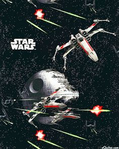 Another Star Wars print by Eugene Textiles for Camelot Cottons.