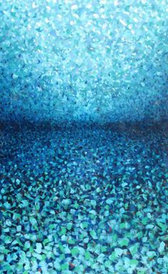 """Reflections"" - blue ocean painting by Ana Maria Botero -- Great impressionistic painting by this artist. Really gives me the feeling of being on or under the water."