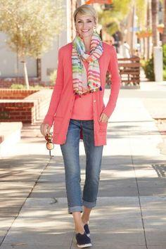 Best Fashion Tips For Women Over 60 - Fashion Trends Boho Fashion Over 40, Plus Size Fashion For Women, Fashion Tips For Women, Fashion Over 50, Spring Fashion, Fashion Top, Chicos Fashion, Fashion Black, Unique Fashion