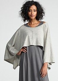 Love Eileen Fisher ~ Her styles are so representative fashion-wise of my life style.
