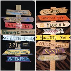Items similar to Create Your Own Fandom Directional Sign, for home or office decor on Etsy Create Yo Deco Harry Potter, Spooky Halloween Decorations, Directional Signs, Outdoor Halloween, Halloween 2019, Scary Halloween, Office Decor, Hogwarts, Diy And Crafts