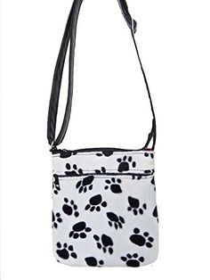 "US HANDMADE FASHION Cross Over body Shoulder bag Style with ""ANIMAL PRINT PAW"" Pattern Purse, NEW, CSOP 3067"