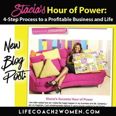 """""""4-Step Process to a Profitable Business and Life"""" is a template I use that produces results over and over again and keeps me in top shape to keep winning in life! Let's dive right into this process step by step so you can have the same results in your life and experience your own winning lifestyle and it starts by reading all about it at www.LifeCoach2Women.com"""