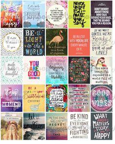 Motivational Life Planner Sticker Sheet Printable - Hipster Inspirational…