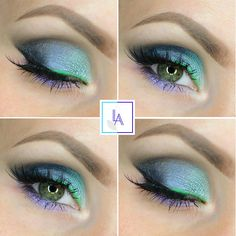 If fairies wore eyeshadow, we're pretty sure this is what it would look like. This colorful, shimmery look by Aleksandra Latos Fabryka Makijazu uses Makeup Geek Signature Eyeshadows in Corrupt, Envy, and Nautica + Makeup Geek Foiled Eyeshadows in Caitlin Rose and Pegasus.