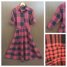 Last few pieces remaining: Little Warm - Ful..., visit http://ftfy.bargains/products/little-warm-full-front-buttoned-long-maxi-shirt-dress-with-bcak-tie-red-black-check?utm_campaign=social_autopilot&utm_source=pin&utm_medium=pin  #amazing #affordable #fashion #stylish