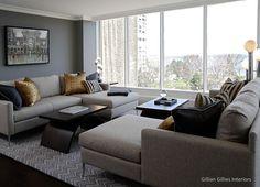 Gillian Gillies Interiors Inc. - Toronto - Canada - Interiors - Living Room - Waterfront Condo Renovation.