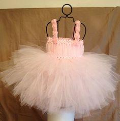 Blush Pink Baby Tutu Dress for Portraits Photo Prop by TheFabuTutu, $25.00