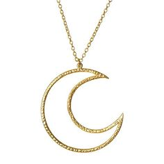 Crescent Moon Necklace.