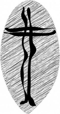 """Some people think this is a rather strange rendition of the cross but for me """"One with God"""" actually represents the holy state of marriage. When we get married we become one with Christ and can rejoice that there is a third party to help keep us together in our commitment. Although my marriage has had many rough patches I believe that because of the presence of God in our lives He is what has held and bound us together. """"One with God"""" is a little edgy but isn't that what marriage is all…"""