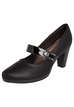 Scarpin Piccadilly Mary Jane Fivela Preto - Marca Piccadilly