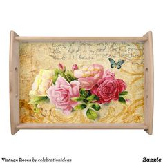 Sold #Vintage #Roses #ServingTray Available in different products. Check more at www.zazzle.com/celebrationideas