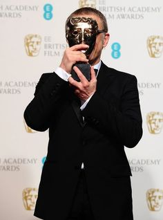 Christoph Waltz with the award for Best Supporting Actor for 'Django Unchained' in the press room at the 2013 British Academy Film Awards at the Royal Opera House, Bow Street, London. Django Unchained, Christoph Waltz, British Academy Film Awards, Best Supporting Actor, Actors, Hollywood, Concert, Satan