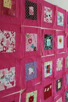 Mamaka Mills Recycled and Custom Memory Quilts: Memory Quilt Made From Baby Clothing/ Recycled Custom Quilt