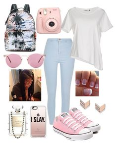 """July/10/16"" by amuh2002 on Polyvore featuring Converse, Valentino, River Island, ONLY, Chanel, Oliver Peoples, Casetify and FOSSIL"