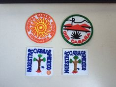 4 Girl Guide- OUR CABANA badges