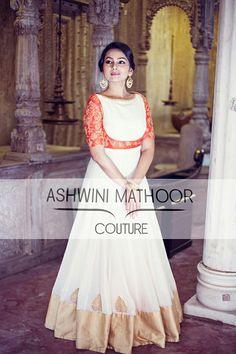 Stylish Dress Designs, Dress Neck Designs, Stylish Dresses, Blouse Designs, Indian Gowns, Indian Attire, Indian Ethnic Wear, Long Gown Dress, Frock Dress