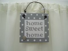 Handmade 'Home sweet home' wooden plaque on Etsy, £9.50