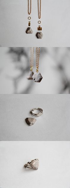 DIY Marbled Clay Pendant using a gem mould & polymer clay; jewellery-making tutorial
