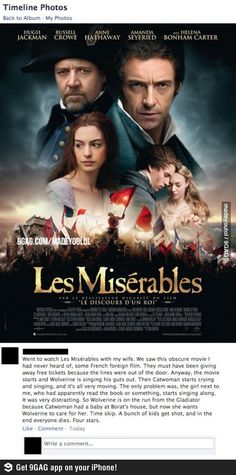 The funniest review of Les Misérables ever.