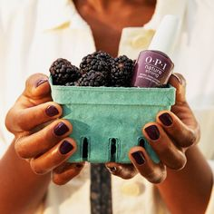 Good-for-you ingredients found in nature helped us create #OPINatureStrong to nourish your appetite for healthy nails. This bold shade is called #EcoManiac. #ColorIsTheAnswer #DarkMani #PurpleNails #PurpleMani #PlumNails #DarkNails #OPIObsessed #HealthyNails #CleanBeauty #NaturalNails #VeganMakeup #PlantBased #NaturalNailPolish #CleanLiving #VeganLife #VeganInspiration #FallNails #FallMani Plum Nails, Purple Nail Polish, Opi Nail Polish, Opi Nails, Purple Nails, Natural Nail Polish, Natural Nails, Interview Nails, Long Lasting Nail Polish