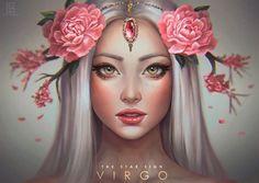 Virgo – The Star Signs by serafleur on DeviantArt - astrologie Art Virgo, Zodiac Art, My Zodiac Sign, Virgo Sign, Anime Zodiac, Virgo Horoscope, Zodiac Symbols, Libra Zodiac, Aquarius