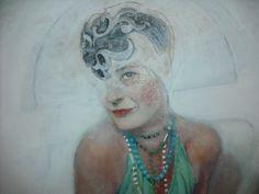"""De la serie """"Comediantes"""" 2013 por Inma Pascual Aparici 80 X 60 cm  Técnica mixta .lienzo sobre tabla VENDO  por 1160 euros"""
