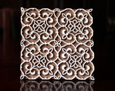 Indian wood stamp Handcarved Stamp Blockprint by charancreations