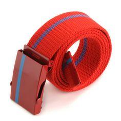 Hot Unisex Waist Belt Mens Womens Plain Webbing Waistband Casual Canvas Belt