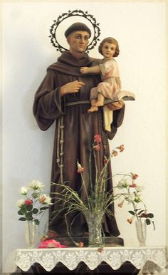 Baby Jesus in the arms of Saint Anthony. The patron Saint of lost items. Pray to him to find something you've lost.