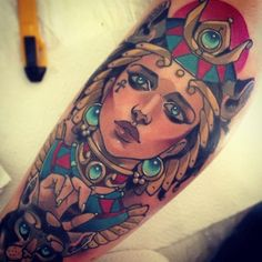 Alluring Neo-Traditional Women Tattoos By Vitaly Morozov
