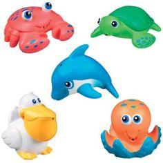 Munchkins Five Sea Squirts Bath Toys