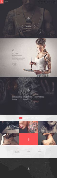 Tattoo Studio Website #Drupal #template. #themes #business #responsive