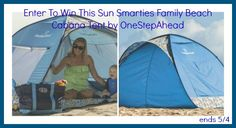 OneStepAhead Family Beach Cabana Tent GIVEAWAY Warmer weather and lots of fun is coming! That's right, Summer is just around the corner and to celebrate I