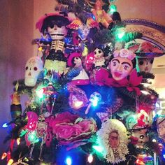 Mexican Christmas inspired tree by Sacred Yoli Designs