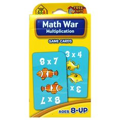 Math War: Multiplication is an exciting card game that helps children learn and practice multiplication facts while having fun. Players take turns solving multiplication problems. The highest correct