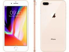 """iPhone 8 Plus Apple 256GB Dourado 4G - Tela 5,5"""" Retina Câmera 12MP iOS 11 Proc. Chip A11. Os melhores celulares pelas melhores condições você encontra no Magazine Allameda."""
