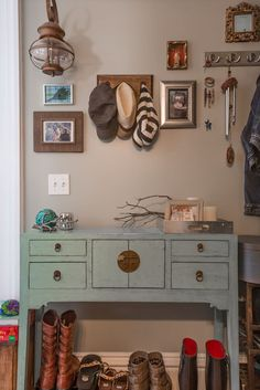 """Eclectic and welcoming, this home's doors are always open. The home was decorated with plenty of """"curbside"""" treasures, DIY projects, and other budget friendly additions."""