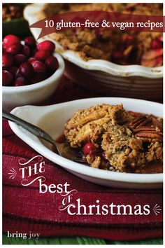 a round-up of the best vegan gluten free Christmas recipes -- includes appetizers, sides, entrees, & dessert Gluten Free Crisps, Vegan Gluten Free, Paleo, Dairy Free, Vegan Recipes Videos, No Dairy Recipes, Healthy Recipes, Vegan Christmas Dinner, Christmas Treats