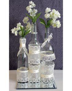 wedding centerpieces with wine bottles | ... Wine Bottle Decor. Wedding Table Centerpieces. Centerpiece Ideas on