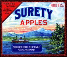 BoxOfApples :: Kitchen and Restaurant Decor :: Fruit Crate Label Art