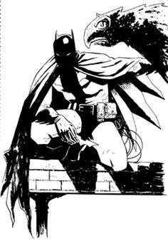 Bocetos de Diego Olmos para Batman en Barcelona