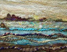 Blues Field Needlefelt Art by Deebs on Etsy Felted Wool Crafts, Felt Crafts, Sheep Face, Wet Felting Projects, Textiles, Felt Pictures, Artsy Photos, Felt Garland, Thread Painting