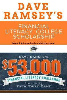 Dave Ramsey Financial Literacy College Scholarship Dave Ramsey Financial Literacy College Scholarship Contest How does a 36000 college scholarship How about a free Chromebook 2 Grants For College, Financial Aid For College, College Planning, Online College, Scholarships For College, College Hacks, Education College, Financial Literacy, College Students
