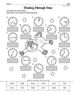 Math Worksheet: time to the minute