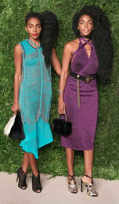 Cipriana Quann and TK Wonder at the CFDA/Vogue Fashion Fund 2015 award dinner