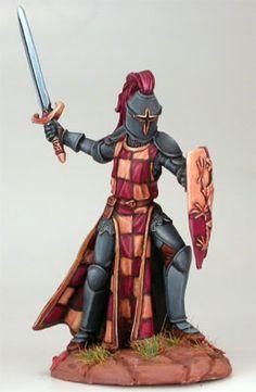 Dark Sword Masterworks Mini Elmore Mounted Male Warrior w//Sword Pack MINT